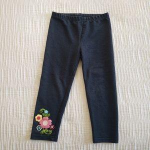 healthtex Matching Sets - 2Pc Set Pink Blue Flower Jean's Dress Top Leggings